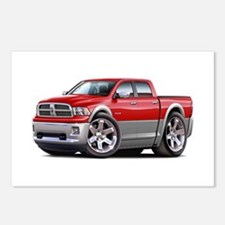 Ram Red-Grey Dual Cab Postcards (Package of 8)