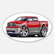 Ram Red-Grey Dual Cab Sticker (Oval)