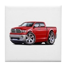 Ram Red Dual Cab Tile Coaster