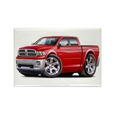 Ram Red Dual Cab Rectangle Magnet