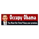 Occupy Obama bumper sticker