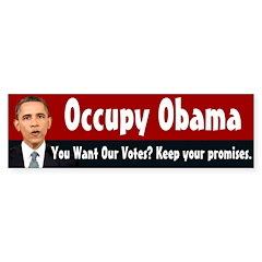 Occupy Obama bumper sticker
