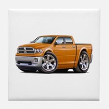 Ram Orange Dual Cab Tile Coaster