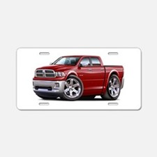 Ram Maroon Dual Cab Aluminum License Plate