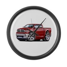 Ram Maroon Dual Cab Large Wall Clock