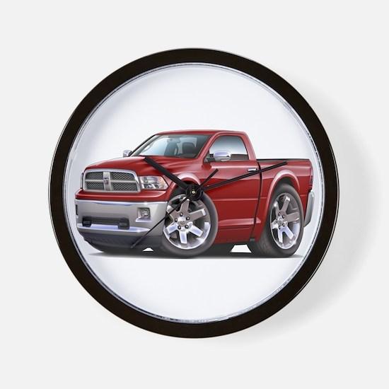 Ram Maroon Truck Wall Clock