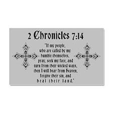2 Chr 7:14 Kreuz - Car Magnet 20 x 12