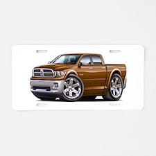 Ram Brown Dual Cab Aluminum License Plate