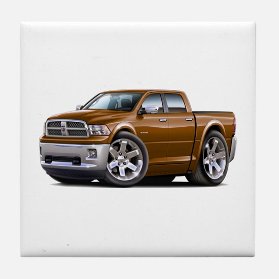 Ram Brown Dual Cab Tile Coaster