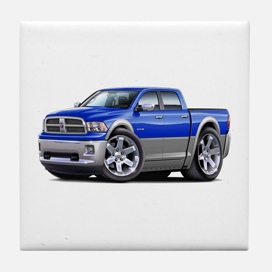 Ram Blue-Grey Dual Cab Tile Coaster
