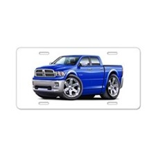 Ram Blue Dual Cab Aluminum License Plate