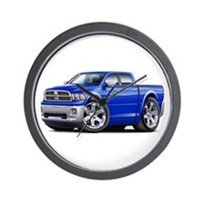 Ram Blue Dual Cab Wall Clock
