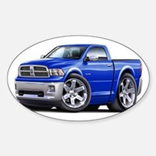 Ram Blue Truck Sticker (Oval)
