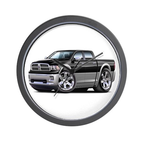 Ram Black-Grey Dual Cab Wall Clock