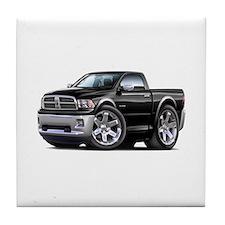 Ram Black Truck Tile Coaster