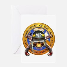 US Army Military Police Skull Greeting Card