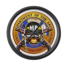 US Army Military Police Skull Large Wall Clock