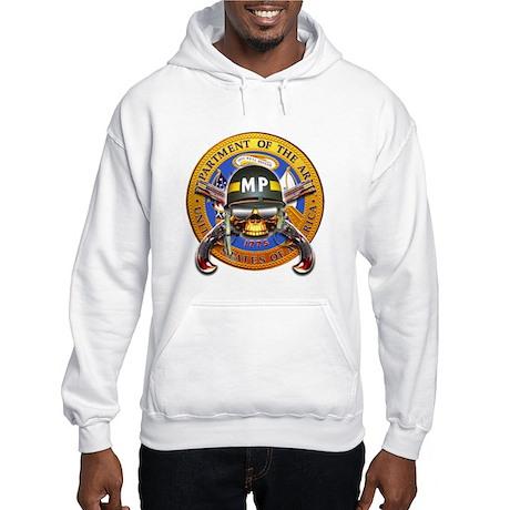 US Army Military Police Skull Hooded Sweatshirt