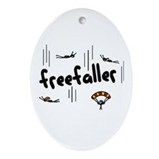 'Freefaller' Ornament (Oval)