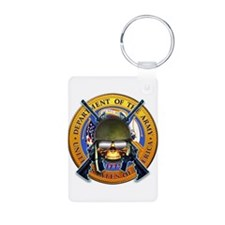 US Army Skull and Seal Keychains