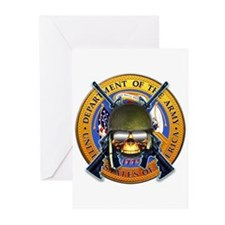 US Army Skull and Seal Greeting Cards (Pk of 10)