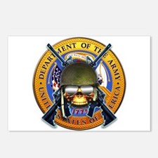 US Army Skull and Seal Postcards (Package of 8)