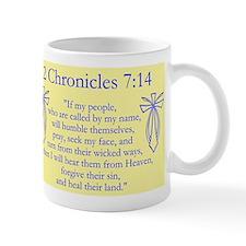 2 Chr 7:14 Cross Fish - Mug