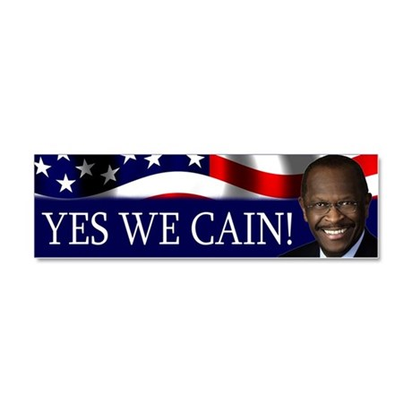 Yes We Cain! Car Magnet 10 x 3