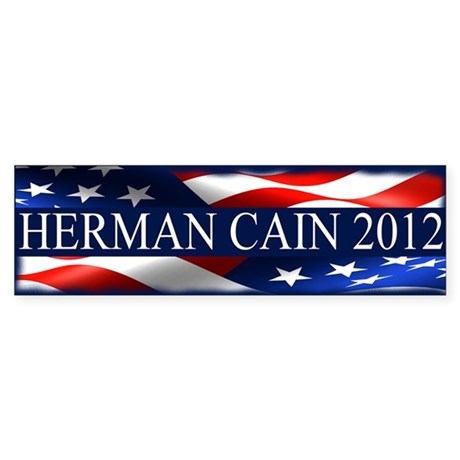 Herman Cain 2012 Sticker (Bumper)