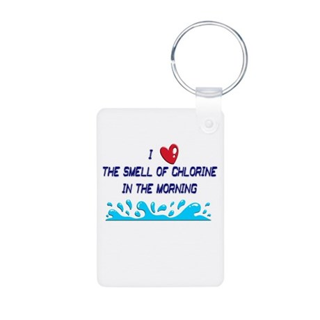 Chlorine in the Morning Aluminum Photo Keychain