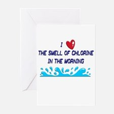Chlorine in the Morning Greeting Cards (Pk of 20)