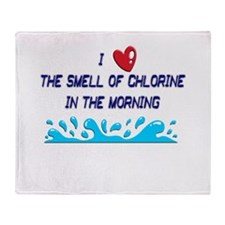 Chlorine in the Morning Throw Blanket