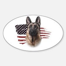 Patriotic German Shepherd Decal