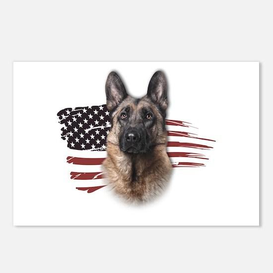 Patriotic German Shepherd Postcards (Package of 8)