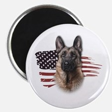 "Patriotic German Shepherd 2.25"" Magnet (10 pack)"