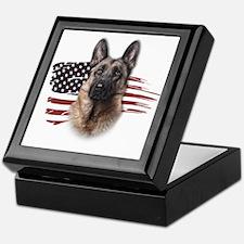 Patriotic German Shepherd Keepsake Box