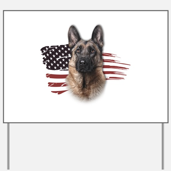 Patriotic German Shepherd Yard Sign
