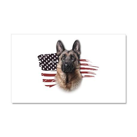 Patriotic German Shepherd Car Magnet 20 x 12
