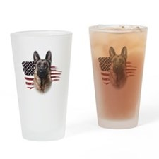 Patriotic German Shepherd Drinking Glass