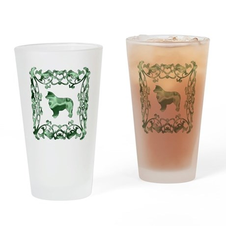 Australian Shepherd Dog Lattice Drinking Glass