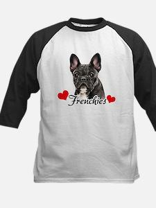Love Frenchies - Brindle Kids Baseball Jersey