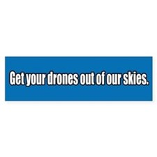 Drone Free Skies Bumper Bumper Sticker