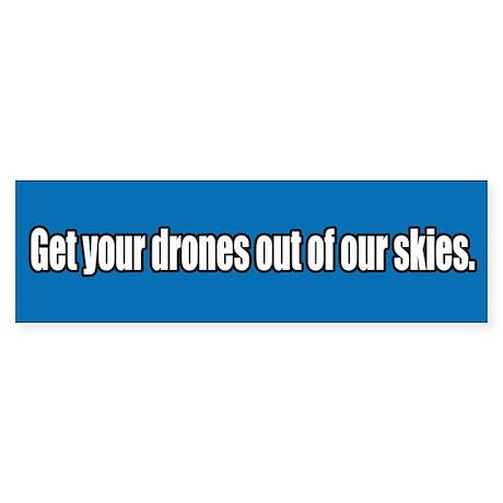 Drone Free Skies Bumper Sticker