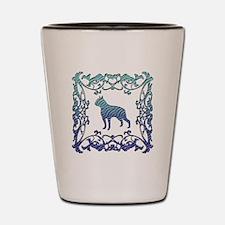 Boston Terrier Lattice Shot Glass