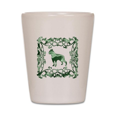 Boston Terrier Lattice Shot Glass