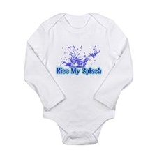 Kiss My Splash Long Sleeve Infant Bodysuit