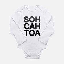 'Soh Cah Toa' Long Sleeve Infant Bodysuit
