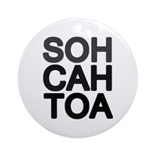 'Soh Cah Toa' Ornament (Round)