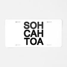 'Soh Cah Toa' Aluminum License Plate