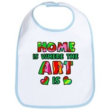 'Home Is Where The Art Is' Bib